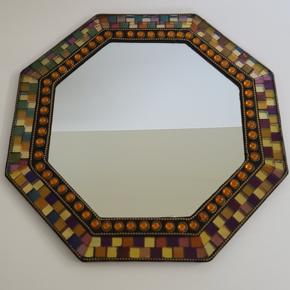 PartyLite Global Fusion Mirrored Candle Tray